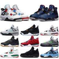Üst 4 4 S Basketbol Ayakkabı Kaktüs Jack Beyaz Çimento Oyunu Kraliyet Motoru En İyi Kalite Erkek Spor Sneakers Ayakkabı US 7-13