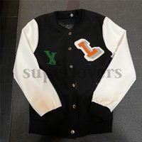 Terry Embroidery Baseball Jackets Womens Classic Letter Wool Stitching Coats New Arrival Casual Lambskin Jacket