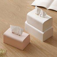 북유럽 간단한 솔리드 컬러 티슈 박스 가정용 종이 추출 상자 거실 레스토랑 및 차 테이블 침실 레스토랑 냅킨 티슈 보
