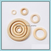 Jewelry100 Pieces Lot 13-125Mm Natural Wood Wooden Circle Rings Bangles Loose Beads Jewelry Aessories For Bag Handle Necklace Kids Diy Drop