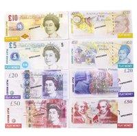 Jouer de papier imprimé argent Jouets UK Livres GBP Britannique 50 commémoratifs Accémorative Access Money Jouet pour les cadeaux de Noël enfants ou film vidéo