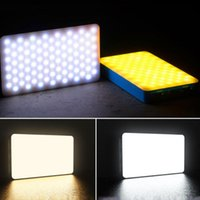 Night Lights 168 LED Video Light On Camera Mini Rechargeable Pography Lighting Fill Lamp 3200K-6500K Dimmable 6000mAh Battery