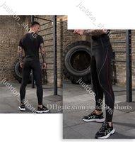 Erkek Spor Yüksek Atletik Katı Yoga Sıkı Pantolon Yüksek Bel Koşu Yoga Kıyafetler Bayanlar Spor Tam Tayt Pantolon Egzersiz Hızlı Kuru TZ