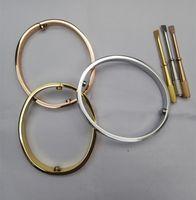 Braccialetto dell'oro del marchio Acciaio di titanio per gli uomini Donne Braccialetto di fascino di lusso di lusso del braccialetto dell'ingrosso dell'ingrosso dei monili della coppia dell'ingrosso Braccialetto a vite 16-21