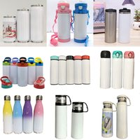 Sublimation Blanks Tumblers Christmas Gifts 304 Stainless Steel Vacuum Cups MDF Blank Drinkware DIY Photo Water Mugs By DHL XD24801