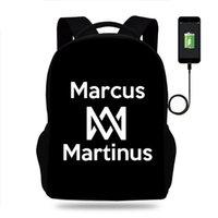 School Bags Marcus And Martinus Backpack Boys Girls Bag Teenager Book Men Women Rucksack USB Travel Knapsack Mochila