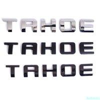 블랙 크롬 컬러 타호 문자 자동차 엠 블 럼 도어 트렁크 스티커 Delcas 액세서리 NamePlates for Chevrolet Tahoe LT LS LTZ