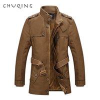 Chuqing 2021 novo outono e inverno homens homens de couro longo jaqueta de couro casual casaco casual
