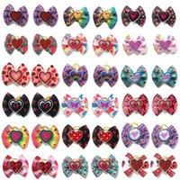 Arcos de cabelo do vestuário do cão com bordas de borracha Butterfly Gravatas A faixa elástica para acessórios dos gatos do filhote de cachorro