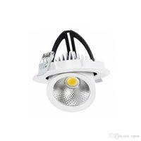 2700-7000 K 110 V 220 V 240 V 5 W 7 W 10 W 20 W 30 W 40 W Ayarlanabilir COB LED Gömme Tavan Gövde Downlight Giyim Mağazası Sergisi için