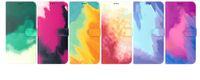 Живопись маслом цвет чернил кожаный кошелек чехлы для iPhone 13 Seara Samsung F52 A03S One Plus Nord CE 5G N200 9 PRO OnePlus N10 N100 акварелью держатель карты краски Flip Cover