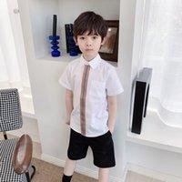 Ücretsiz Kargo Yaz Bebek Erkek Kız Gömlek 2021 Yeni Çocuk Boys Pamuk Kısa Kollu Giyim Çocuk Şort