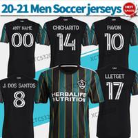 MLS 2021 LA GALAXY Futbol Formaları Topluluk Seti # 14 Chicharito # 10 Pavon 20/21 Siyah Kiti Futbol Gömlek Özelleştirilmiş Futbol Üniformaları