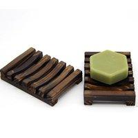 Natürliche Holz Seifenschale Anti-Rutsch Badeseifenschale Halter Halterung Seife Rack Platte Box Behälter Bad Duschplatte Badezimmer DWC6334
