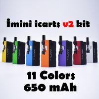Прибытие IMINI ICARTS KIT 1.0 мл Картриджи Предварительная батарея Mod Fit Siberty Cartridge Vaporizer VAPES 510 резьбовой коробку 9 цветов