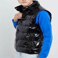 남자 조끼 아래로 자켓 겨울 파카 아우터웨어 코트 후드 방수 남성 및 여성을위한 방수 윈드 브레이커 까마귀 두꺼운 의류 따뜻한 모자 유지