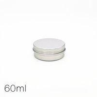 60 g 60 ml Tarro de aluminio vacío Tin Color de plata Metal Contenedor de Cosméticos Clavas Maquillaje Labial Lijo Líquido Crema Líquido Tornillo Tornillo Traza Tarro