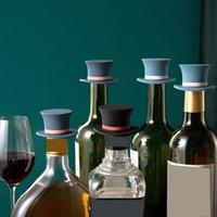 Newkitchen Bar Tools Wine Splitper Творческая Волшебная Шляпа Форма Силиконовые Вина Корки Проблемы Нескользящие Силикагел Гель Утечка Утечка Бутылка CORK EWB6103