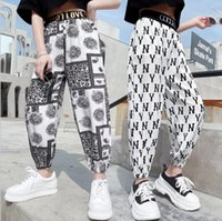 Trousers For Girls Casual Style Girl Anti-Mosquito les pantalons Kids Fashion Letters Ankle Pants 5 7 9 10 11 13 14Years Teenage Clothes