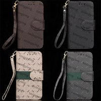 Top Designers Lederen Telefoon Gevallen voor iPhone 13 Pro Max 12 Mini 11 XS XR X 8 7 Plus Fashion Polsband Lanyard Designer Print Back Cover Luxe Shell Wallet Flip Case