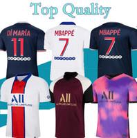 S-4XL Maillots de Football Kits 20 21 파리 멀리 멀리 멀리 3 축구 유니폼 2020 2021 Mbappe Icardi 셔츠 남성 Set Maillot de Foot Hommes 홍재