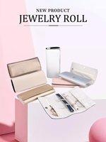 Ювелирные изделия Roll Velvet Путешествия Кожаные Ювелирные Изделия Кольцо Организатор