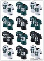 """남성 여성 청소년 필라델피아 """"Eagles""""20 Brian Dawkins 27 Malcolm Jenkins 88 """"Dallas""""Goedert 56 Chris Long Football Jersey"""