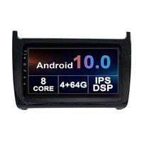 """VW Polo 2011-2018ラジオステレオマルチメディアヘッドユニット9 """"スーパースリムのタッチスクリーンカーDVDアンドロイド10 GPSナビゲーションプレーヤー"""