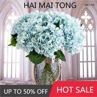 Decorative Flowers & Wreaths Artificial Silk Hydrangea Bride Bouquet Wedding Home Year Decoration Accessories For Vase Plants Arrangement
