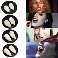 Vampire Diş Fangs Takma Protlar Cadılar Bayramı Kostüm Sahne Partisi Tatil Şekeri DIY Süslemeleri Korku Makyaj Dişler 4 Boyutu
