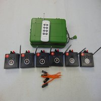 6 Cues fireworks Firing System Party Supplies Festive Shooting Transmitter remote waterproof controlle button genuinet Electronic Wire switches Wireless