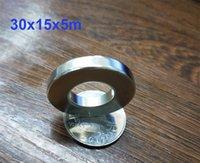 50 sztuk Magnesy Wielkość pierścienia Dia 30x15x5 mm Okrągły silny rzadki Magnes neodymowy N38 N38 NDFEB
