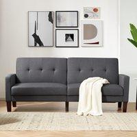 Salon meubles meubles japonais assemblage facile assemblage convertible en bois pliant futon canapé-lit paresseux
