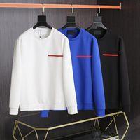 PRA201SS дизайнер мужской капюшон мужской досуг осенью простой спорт с длинным рукавами рубашка растягивающаяся джемпер новая мода и удобный темперамент сжатый круглый воротник