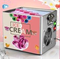 Home Thai Stir Fry Cream Tool Mini Roll Machine Electric маленький настольный зажаренный йогурт для продажи