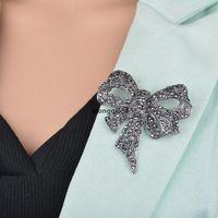 JH crystal rhinestone arco spille spille per le donne grande bowknot spilla spilla vintage moda gioielli invernali accessori inverno regalo di Natale