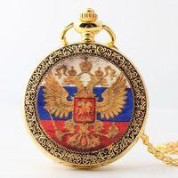 Pocket Watches Gold Color Vintage Bronze Quartz Watch Necklace Pendant Clock Chain Men Women Fob Jewelry Accessory Gift