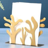 Tissue Boxes & Napkins Modern Design Stainless Steel Napkin Rack Box Dispenser Holder Plants Table Decoration Home Coffee Shops