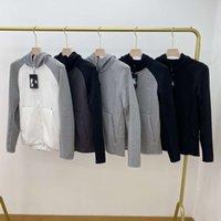 2021 Tecnologia de Designer Europeia estilo americano esportes esportes jaqueta com capuz tecnologia de lã casual de malha com zíper completo cardigan hoodie