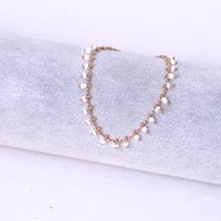 Gioielli fatti a mano all'ingrosso moda gioielli monili trifoglio bianco riso perline nappa decorazione della mano modello freccia 4 quattro pezzi braccialetto