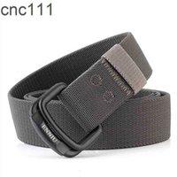 Militärausrüstung Männer Elastische Nylon Taktische Gürtel für Jeans Hosen Feste Riemen Leinwand Doppel Ring Metall Schnalle Taille Gürtel