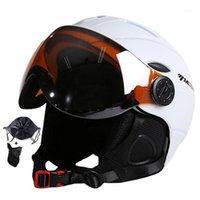Skihelme Mond Top Qualität Brille Helm CE-Zertifizierung Sicherheit Skifahren mit Gläsern Skating Skateboard Snowboard1