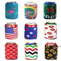 Diving créatif Color Color Set Coke Cupe Coupe Professionnel Cooling Beer peut couvrir les boissons Bouteille de bouteille porte-poêle à manches colorées EWF5191