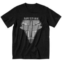 Spitfire Fighter Diamond Series T рубашка мужская хлопчатобумажная футболка городская футболка с коротким рукавом WW2 War War Pilot Aircraft Fairplane футболка