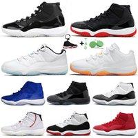 2021 Top Selling 11s Xi Sapatos de Basquete Retro Baixo Legenda Blue Citrus Jumpman 11 25º Aniversário ALTO ALTO BRED CONCORD SPACE JAM Treingers Sneakers 36-47