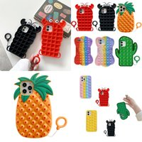 Adult Pop Party Favor Phone Cases For Iphone 12 11 Pro Max X XS XR 7 Plus 8 Relive Stress Toys Fidget Sensory Toy Silicone Cover 2919 Q2