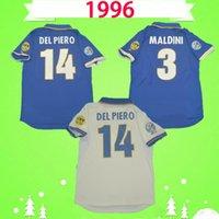1996 1998 Retro Italy Soccer Jerseys 96 98 Maldini del Piero Baggio Zola Camicie da calcio Classic Maglia da Calcio Ravanelli Vintage Maillot