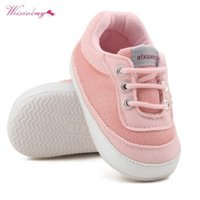 Premiers Walkers Weixinbuy Né Baby Girls Chaussures Spring Automne Boy Sold Sold Sold Toile Crèche 0-18 mois
