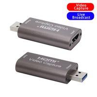 Hubs 4K Video Capture Card USB 3.0 USB2.0 -Compatible Grabber Gravador para Game PS4 DVD Camcorder Camera Gravação Live Streaming
