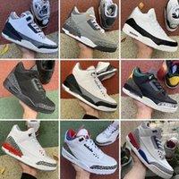 3 3S أحذية الرجال أحذية كرة السلة الأسود الأسمنت القط نقية أبيض صحيح الأزرق العبث الأخضر UNC رجل المدرب spo nakeskin s حذاء